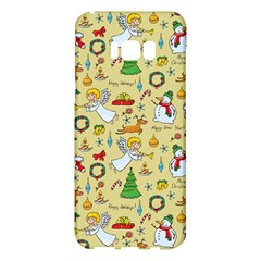 Christmas Pattern Samsung Galaxy S8 Plus Hardshell Case  by Valentinaart