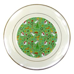 Christmas Pattern Porcelain Plates by Valentinaart