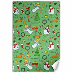 Christmas Pattern Canvas 20  X 30   by Valentinaart