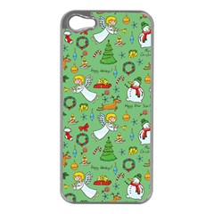 Christmas Pattern Apple Iphone 5 Case (silver) by Valentinaart