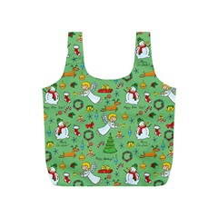 Christmas Pattern Full Print Recycle Bags (s)  by Valentinaart