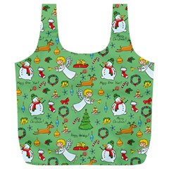 Christmas Pattern Full Print Recycle Bags (l)  by Valentinaart