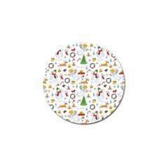 Christmas Pattern Golf Ball Marker by Valentinaart