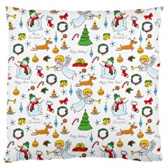 Christmas Pattern Large Cushion Case (two Sides) by Valentinaart