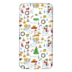 Christmas Pattern Samsung Galaxy S5 Back Case (white) by Valentinaart