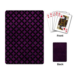 Circles3 Black Marble & Purple Leather Playing Card by trendistuff