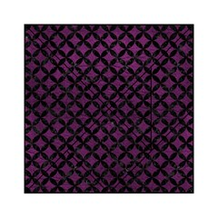 Circles3 Black Marble & Purple Leather Acrylic Tangram Puzzle (6  X 6 ) by trendistuff