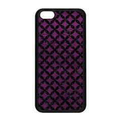 Circles3 Black Marble & Purple Leather Apple Iphone 5c Seamless Case (black) by trendistuff