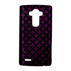 Circles3 Black Marble & Purple Leather Lg G4 Hardshell Case by trendistuff