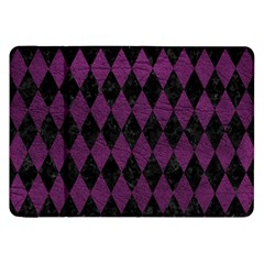 Diamond1 Black Marble & Purple Leather Samsung Galaxy Tab 8 9  P7300 Flip Case by trendistuff