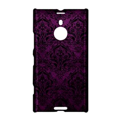 Damask1 Black Marble & Purple Leather Nokia Lumia 1520 by trendistuff