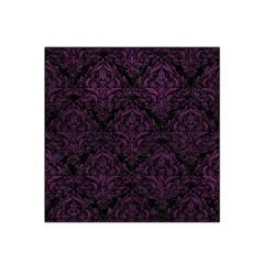 Damask1 Black Marble & Purple Leather (r) Satin Bandana Scarf by trendistuff
