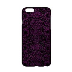 Damask2 Black Marble & Purple Leather (r) Apple Iphone 6/6s Hardshell Case by trendistuff