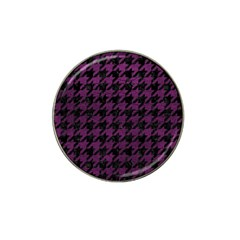 Houndstooth1 Black Marble & Purple Leather Hat Clip Ball Marker (10 Pack) by trendistuff