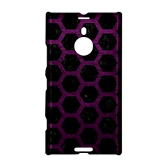 Hexagon2 Black Marble & Purple Leather (r) Nokia Lumia 1520 by trendistuff