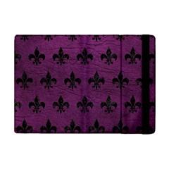 Royal1 Black Marble & Purple Leather (r) Ipad Mini 2 Flip Cases by trendistuff