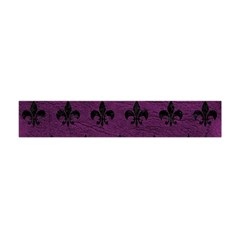 Royal1 Black Marble & Purple Leather (r) Flano Scarf (mini) by trendistuff