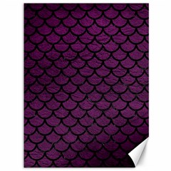 Scales1 Black Marble & Purple Leather Canvas 36  X 48   by trendistuff