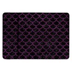 Scales1 Black Marble & Purple Leather (r) Samsung Galaxy Tab 8 9  P7300 Flip Case by trendistuff