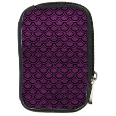 Scales2 Black Marble & Purple Leather Compact Camera Cases by trendistuff
