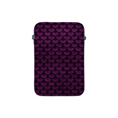 Scales3 Black Marble & Purple Leather Apple Ipad Mini Protective Soft Cases by trendistuff