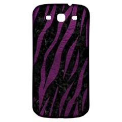 Skin3 Black Marble & Purple Leather (r) Samsung Galaxy S3 S Iii Classic Hardshell Back Case by trendistuff