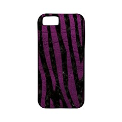 Skin4 Black Marble & Purple Leather Apple Iphone 5 Classic Hardshell Case (pc+silicone) by trendistuff
