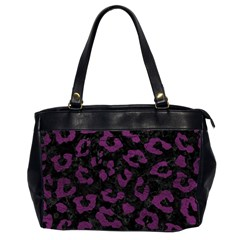 Skin5 Black Marble & Purple Leather Office Handbags (2 Sides)  by trendistuff