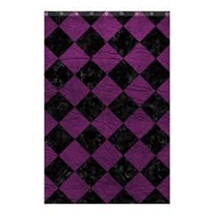 Square2 Black Marble & Purple Leather Shower Curtain 48  X 72  (small)  by trendistuff