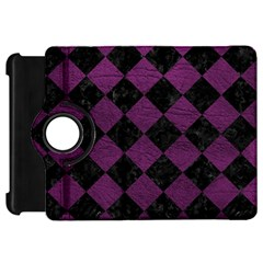 Square2 Black Marble & Purple Leather Kindle Fire Hd 7  by trendistuff