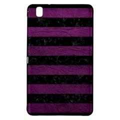 Stripes2 Black Marble & Purple Leather Samsung Galaxy Tab Pro 8 4 Hardshell Case by trendistuff
