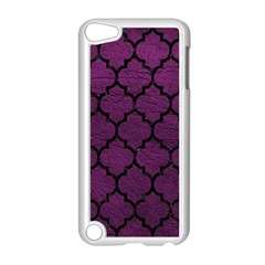 Tile1 Black Marble & Purple Leather Apple Ipod Touch 5 Case (white) by trendistuff