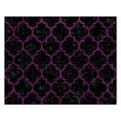 Tile1 Black Marble & Purple Leather (r) Rectangular Jigsaw Puzzl by trendistuff
