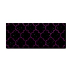 Tile1 Black Marble & Purple Leather (r) Cosmetic Storage Cases by trendistuff