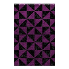 Triangle1 Black Marble & Purple Leather Shower Curtain 48  X 72  (small)  by trendistuff