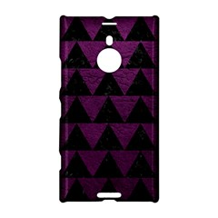 Triangle2 Black Marble & Purple Leather Nokia Lumia 1520 by trendistuff