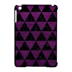 Triangle3 Black Marble & Purple Leather Apple Ipad Mini Hardshell Case (compatible With Smart Cover) by trendistuff