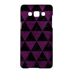 Triangle3 Black Marble & Purple Leather Samsung Galaxy A5 Hardshell Case  by trendistuff