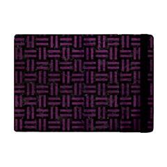 Woven1 Black Marble & Purple Leather (r) Apple Ipad Mini Flip Case by trendistuff