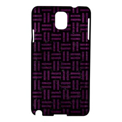 Woven1 Black Marble & Purple Leather (r) Samsung Galaxy Note 3 N9005 Hardshell Case by trendistuff