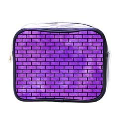 Brick1 Black Marble & Purple Watercolor Mini Toiletries Bags by trendistuff