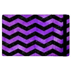 Chevron3 Black Marble & Purple Watercolor Apple Ipad Pro 12 9   Flip Case by trendistuff