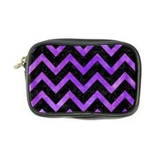 Chevron9 Black Marble & Purple Watercolor (r) Coin Purse by trendistuff