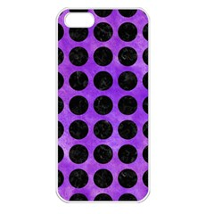 Circles1 Black Marble & Purple Watercolor Apple Iphone 5 Seamless Case (white) by trendistuff