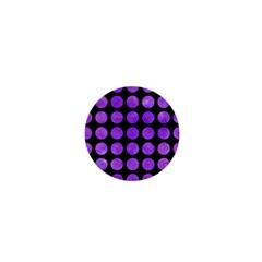 Circles1 Black Marble & Purple Watercolor (r) 1  Mini Buttons by trendistuff