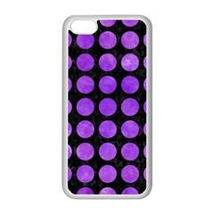 Circles1 Black Marble & Purple Watercolor (r) Apple Iphone 5c Seamless Case (white) by trendistuff