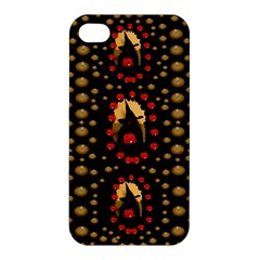 Pumkin Witch In Candles And White Magic Apple Iphone 4/4s Hardshell Case by pepitasart