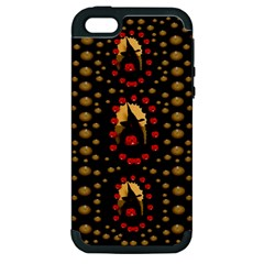 Pumkin Witch In Candles And White Magic Apple Iphone 5 Hardshell Case (pc+silicone) by pepitasart