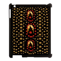Pumkin Witch In Candles And White Magic Apple Ipad 3/4 Case (black) by pepitasart
