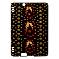 Pumkin Witch In Candles And White Magic Kindle Fire Hdx Hardshell Case by pepitasart